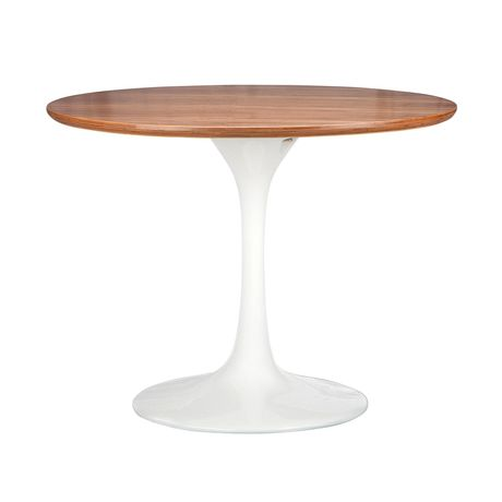 This side table delivers a fresh and fun look with a mid-century modern feel. Its graceful form harkens back to a mid-century modern profile and adds a definite boost to your living space.  Find the Walnut Tulip Side Table, as seen in the Forms of Neo-futurism Collection at http://dotandbo.com/collections/forms-of-neo-futurism?utm_source=pinterest&utm_medium=organic&db_sku=DBI7002-wht