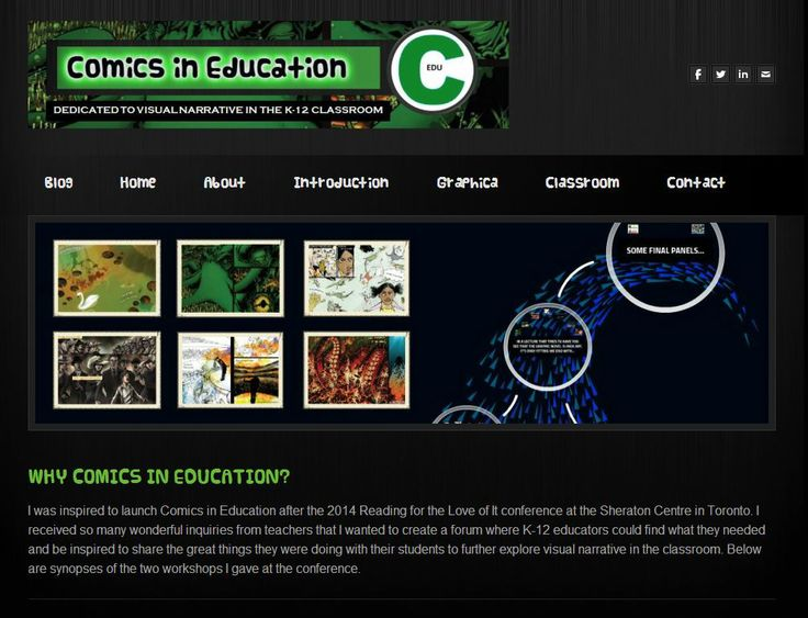 About -- Why Comics in Education?