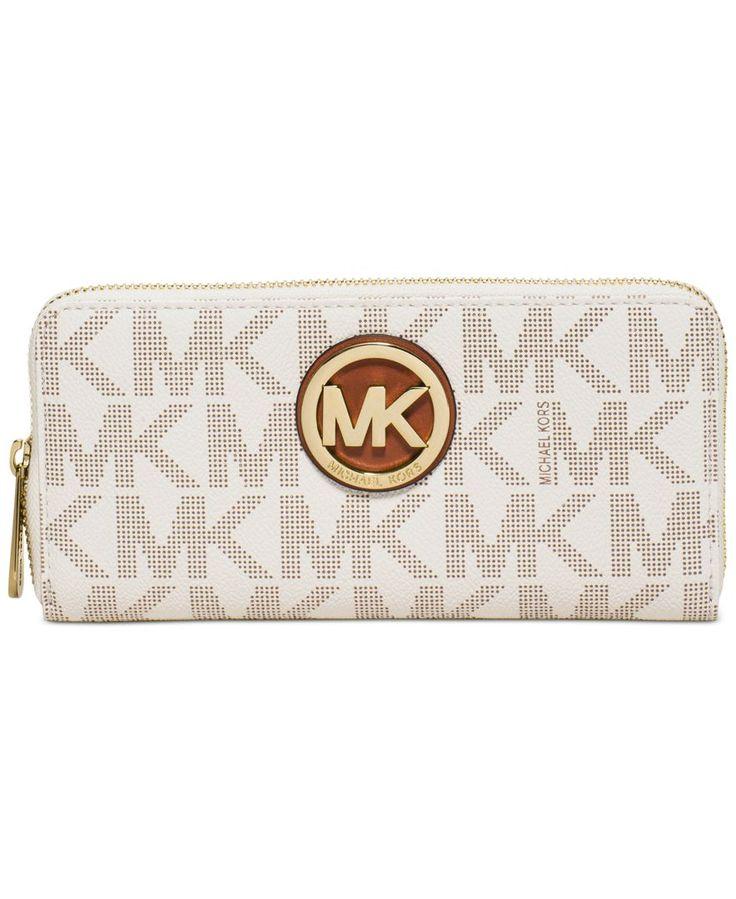 MICHAEL Michael Kors Fulton Zip Around Continental Wallet - Handbags & Accessories - Macy's