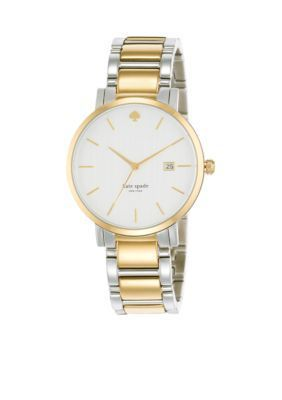 kate spade new york Two Tone Large Two-Tone Gramercy Watch