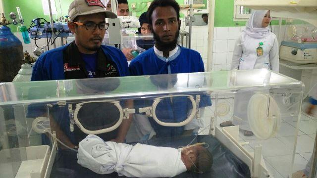 ICS Blang Adoe Sambut Gembira Kelahiran Ketujuh Bayi Rohingya