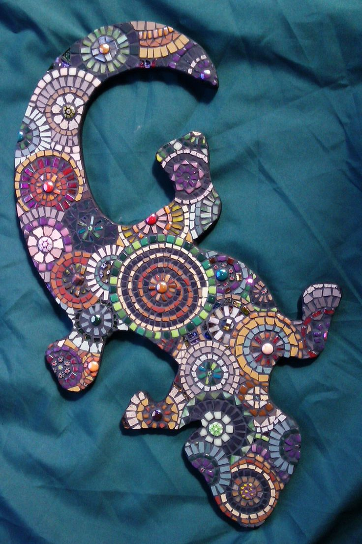 Mosaic Gecko by JackieCoyleArt on Etsy https://www.etsy.com/listing/212572060/mosaic-gecko
