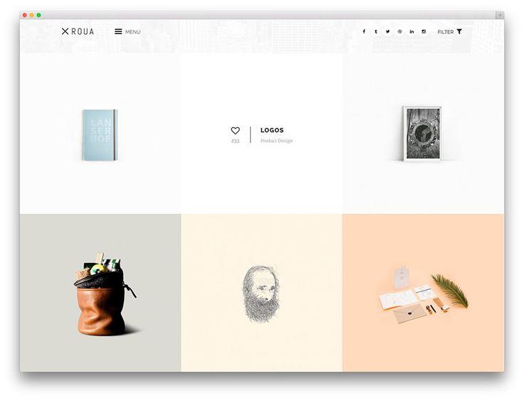 ROUA minimal portfolio theme