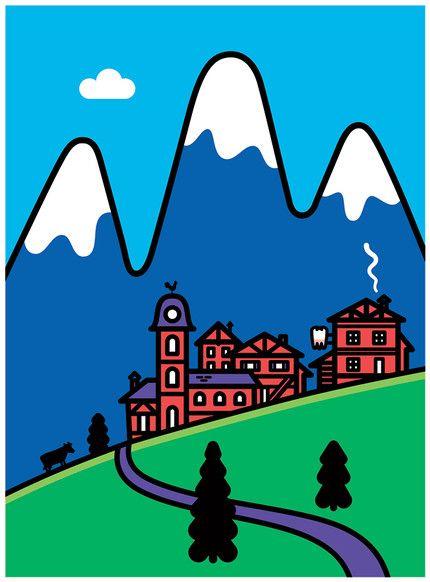 Dume - Tiphaine-illustration #landscape #mountains #vectoriel