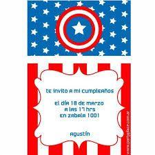 Resultado de imagen para bolsitas de cumpleaños capitan america
