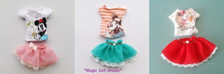 """Aliexpress.com: Comprar [ moda ] 2015 calientes de la venta Neoblythe ropa la muñeca de dibujos animados # Top y falda Set para Neoblythe muñecas 12 """" muñeca ropa para el sector minorista de ropa de yoga fiable proveedores en Magic Doll Studio"""