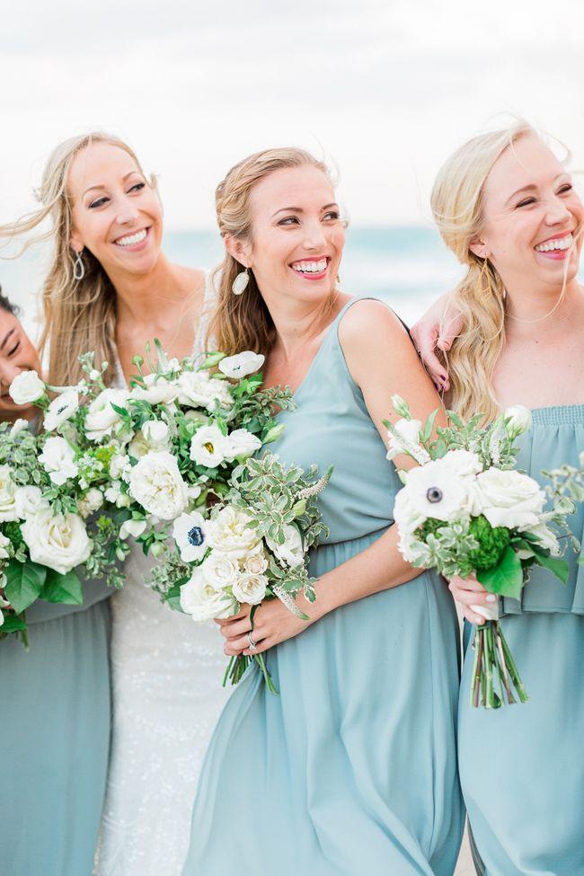 Seafoam White And Green Jupiter Beach Resort Wedding Blue Beach