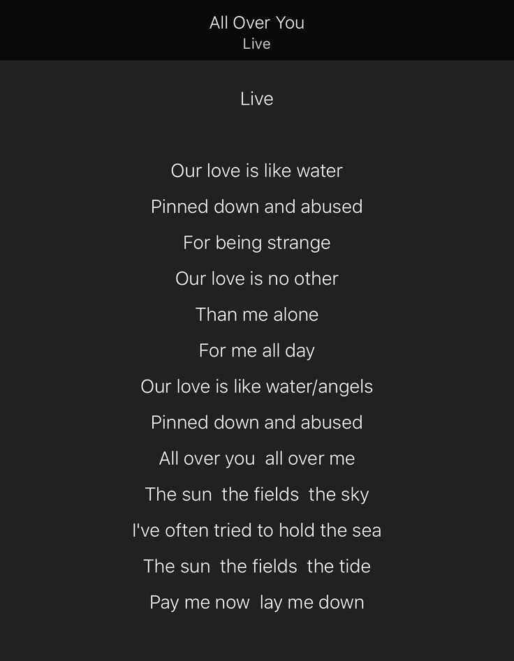 Live - All Over You (Lyrics) - YouTube