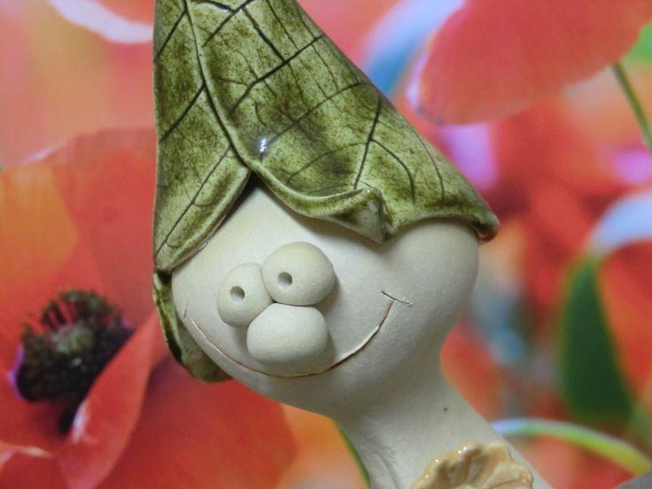 Gartenfiguren - Waldkind Karoline - ein Designerstück von Atelier-Keramixx bei DaWanda