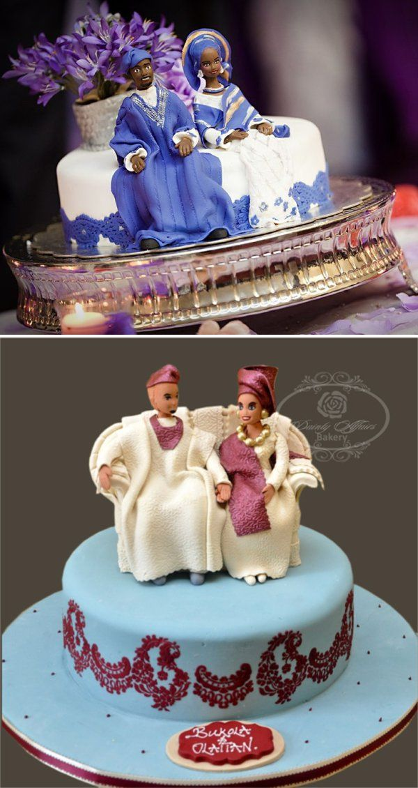 traditional wedding cakes in nigeria. Top photo by Dotun ayodeji Photography. Bottom image by Dainty Affairs Bakery Nigeria