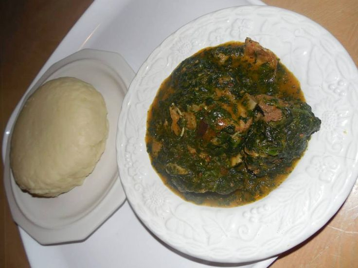 "pounded yam an african dish Pounded yam is smooth dough of mashed yam frequently eaten with a vegetable soup or fret it is sometimes called ""iyan""  it is much like mashed murphies but smoother heavier and tastier."