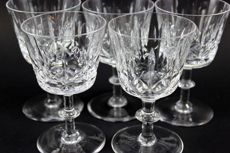 Edinburgh Crystal Port Glasses (5)