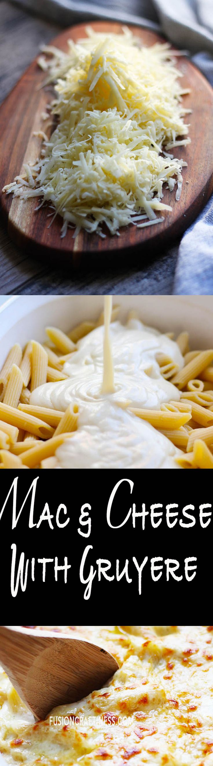 Macaroni and Cheese with Gruyere and Smoked Gouda, so EASY and YUM!!  Creamy and cheesy.