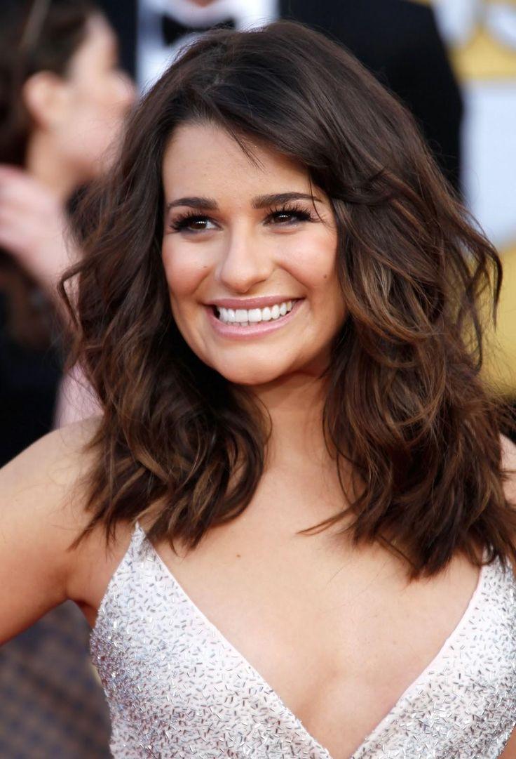 Lea Michele Hair. side bangs. want