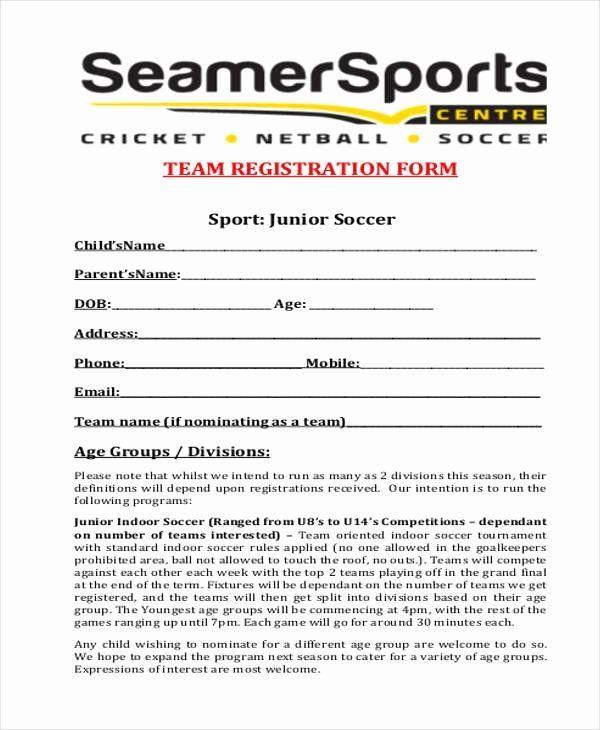 Free Sports Registration Form Template Fresh Registration Form Templates In 2020 Classroom Newsletter Template School Newsletter Template Registration Form