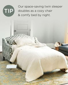 Guests in town? A sleeper sofa's the best way to save some space.