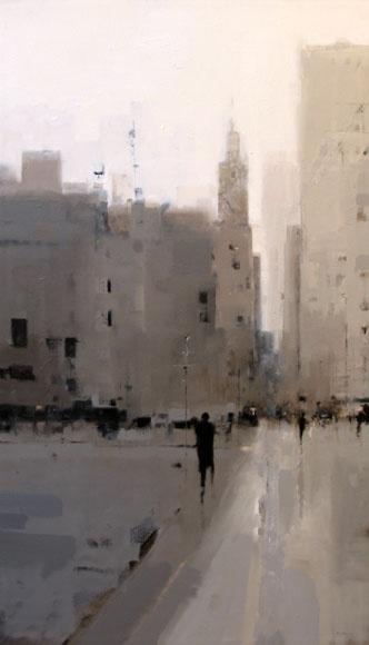 Left of TV Geoffrey Johnson - City Buildings Gray