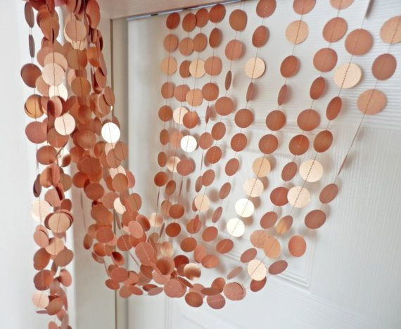 Thank you so much to visiting my shop. This circle garland' s color is copper. The circles are made hand punched.  Perfect decoration will be for