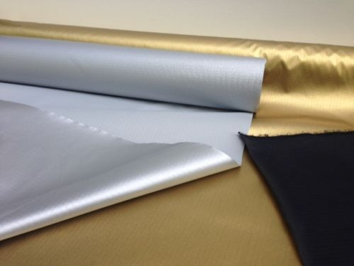 WATER-RESISTANT-RIPSTOP-FABRIC-MATERIAL-BY-THE-M-SILVER-OR-GOLD-FREE-POST