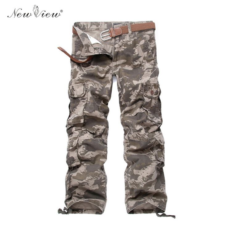 2017 Cargo Pants Men Army Green Khaki Pant Male Casual Casual Trousers Multi Pocket Pantalones Hombre Plus Size #Affiliate