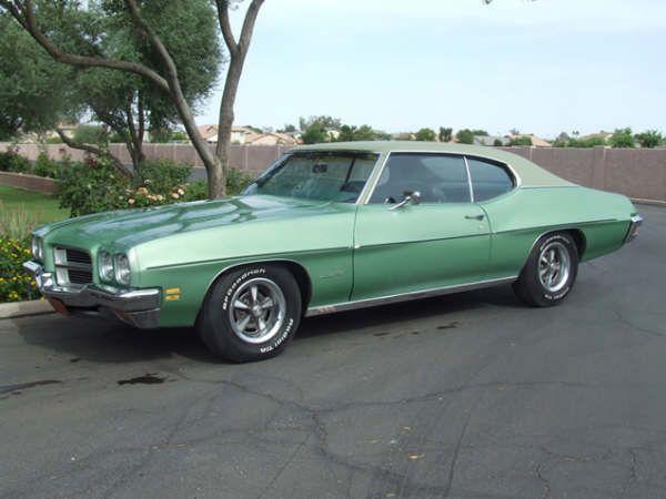 green 1970 Pontiac Lemans.