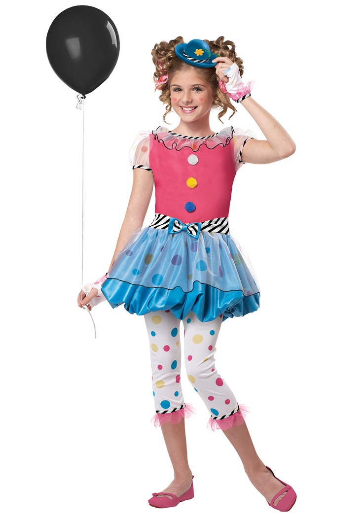 dotsy clown child costume for halloween pure costumes - Girl Clown Halloween Costumes