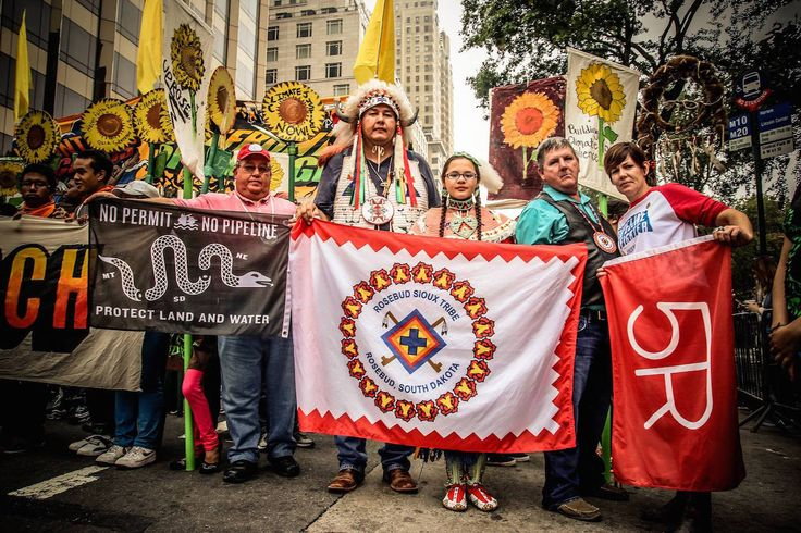 Rosebud Sioux Tribe: House Vote in Favor of the Keystone XL an Act of War (Photo: Rosebud Sioux rally in NYC) #IdleNoMore