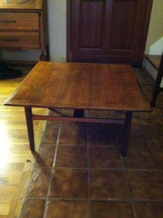 Mid century square coffee table rab bdrm man cave ideas for Man cave coffee table ideas