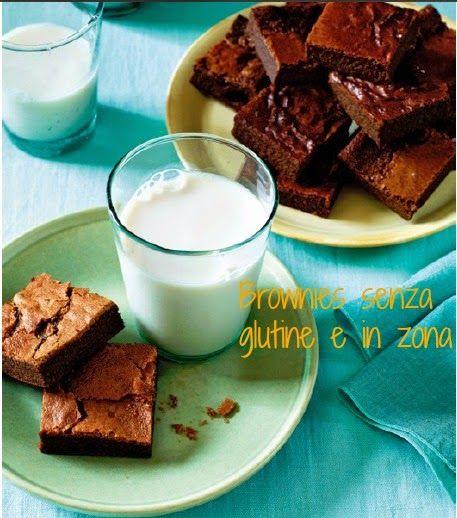 Brownies di zucchine senza glutine e in zona