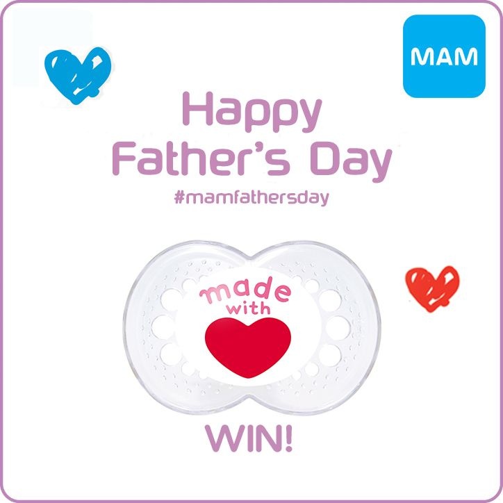Enter this Father's Day giveaway competition for a chance to win 2 MAM soothers, which are suitable from 6 months and above.