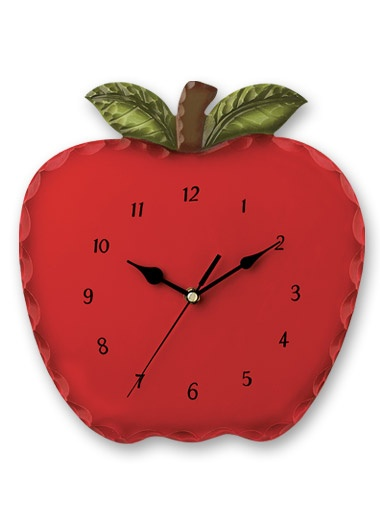 Apple Wooden Clock: