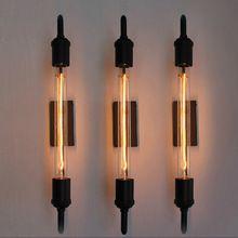 Tubo de vapor do vintage retro preto de metal lâmpada de parede para Luzes de Vaidade Do Banheiro/varanda luz/luz da noite/iluminação luminária sconce bar(China (Mainland))