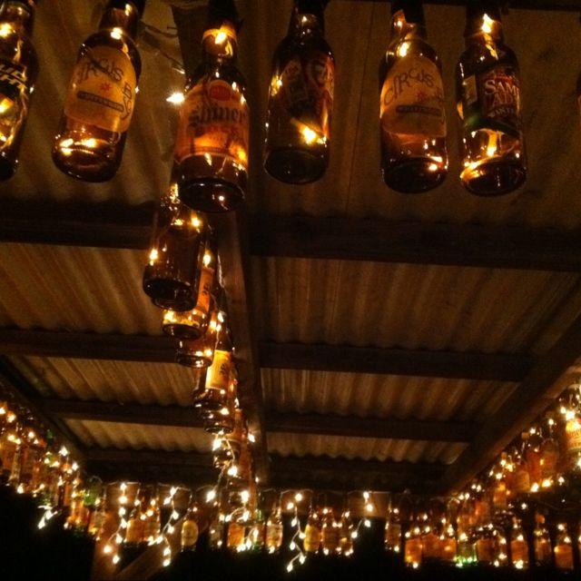 Beer bottle lights!