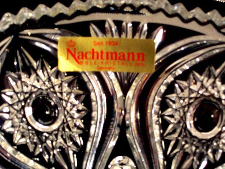 Nachtmann Bleikristall Cut Crystal Footed Bowl Florenz Design #Nachtmann