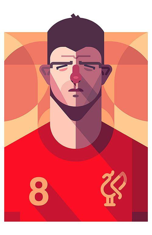 迎接2014世界杯!世界著名足球运动员插画