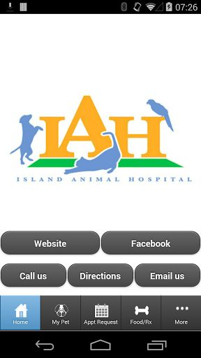 This app is designed to provide extended care for the for the patients and clients of Island Animal Hospital in St. Simons Island, Georgia.  With this app you can: One touch call and email Request appointments Request food Request medication View your pet's upcoming services and vaccinations (with automatic login!) Receive notifications about.....hospital promotions, lost pets in our vicinity and recalled pet foods.   Receive monthly reminders so you don't forget to g...