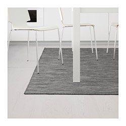 HODDE Teppich flach gewebt, drinnen/draußen grau, schwarz - drinnen/draußen grau/schwarz - 160x230 cm - IKEA