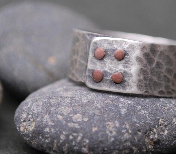 24 besten Rivet Rings Bilder auf Pinterest | Metallschmuck, Kupfer ...