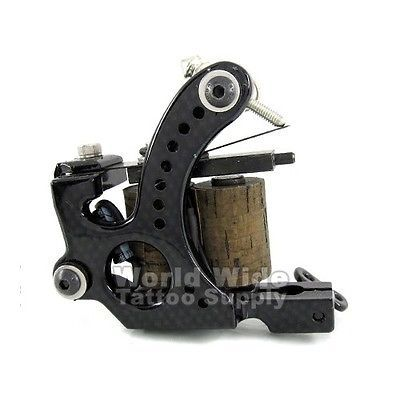 Tattoo Machines and Parts: Carbon 8-Wrap Coil Tattoo Machine Liner And Shader Supply Ink BUY IT NOW ONLY: $49.99