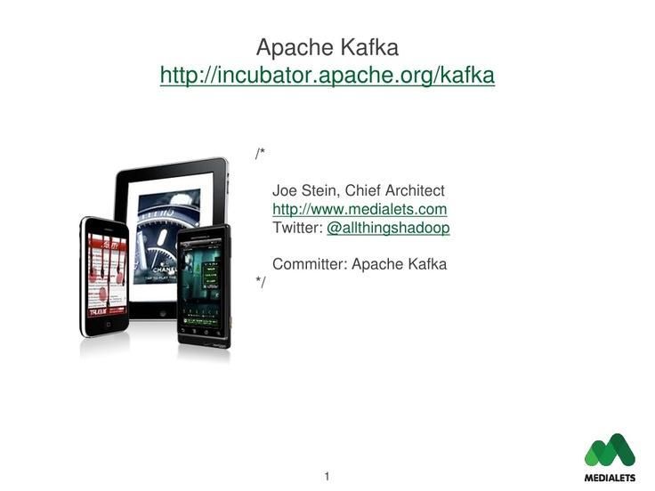 apache-kafka by charmalloc via Slideshare