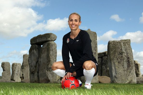 Heather Mitts Photos Photos - USA Olympic soccer player Heather Mitts poses during a photo shoot at Stonehenge on September 11, 2011 in Wiltshire, England. - TEAM USA Britain Bound: Heather Mitts visits Stonehenge