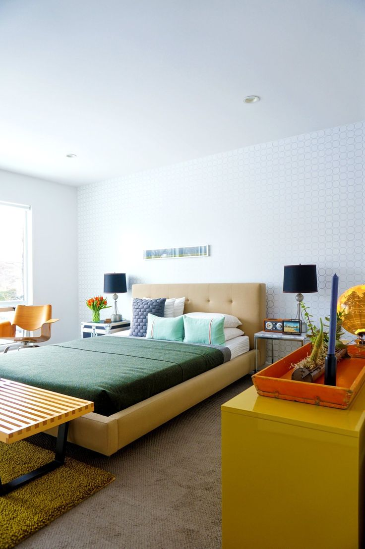 Best Images About Colorful Bedrooms On Pinterest - Modern retro bedroom