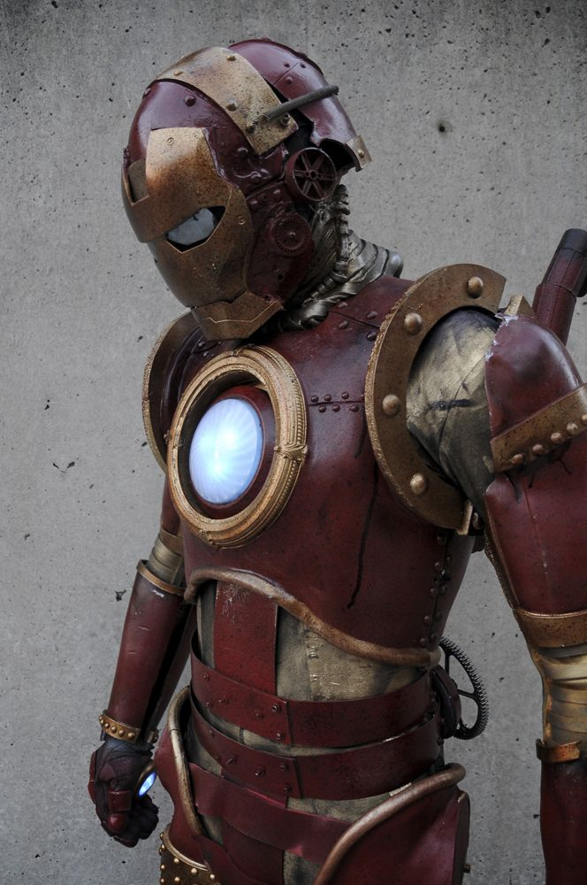 steampunk iron man (show up at comic con with that!)