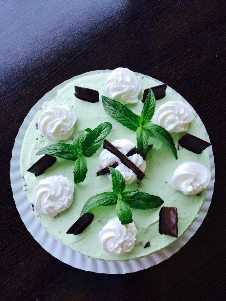 Cheescake cu menta si ciocolata After Eight!