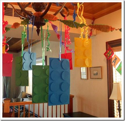 Dining room Decorations for the Lego Party