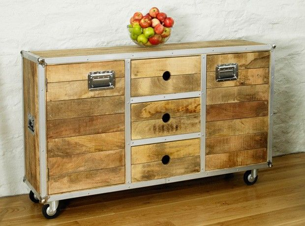 Boston Chic Large Sideboard   Boston Chic Reclaimed Wood   Shop By Range