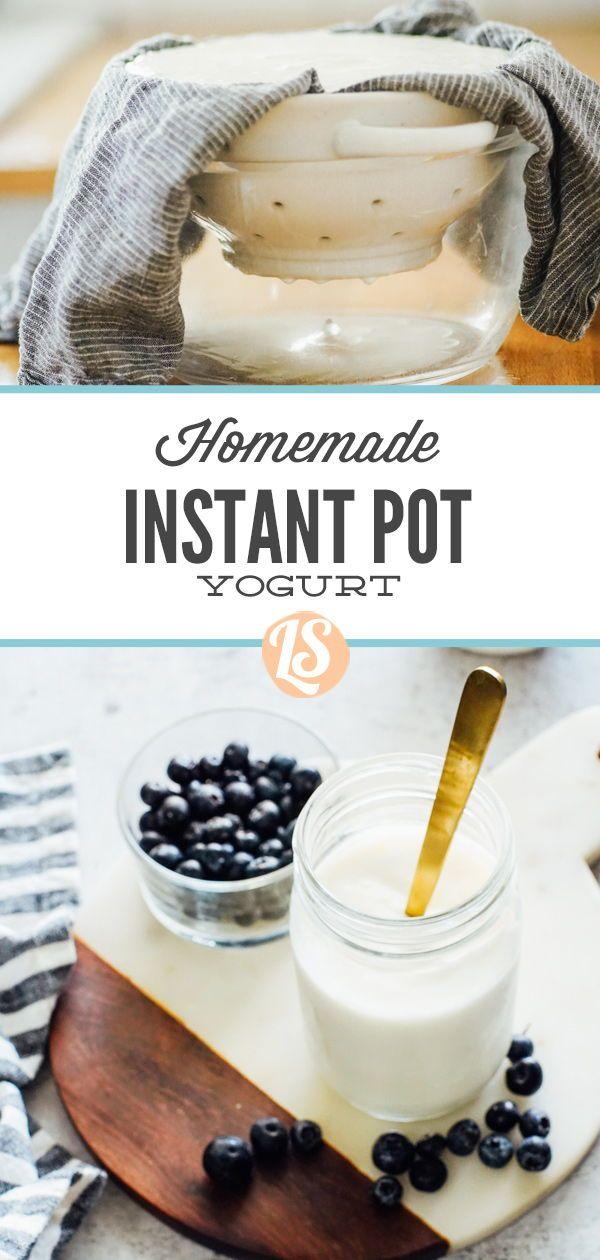 How To Make Thick Yogurt At Home Homemade Yogurt Instant Pot Method Recipe In 2020 Instant Pot Yogurt Real Food Recipes Homemade Yogurt