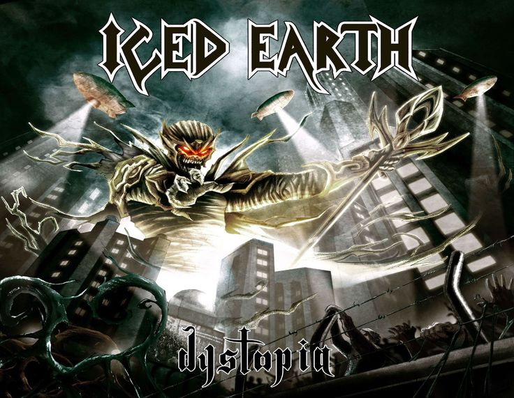 ICED EARTH heavy metal death power thrash 1iced artwork dark evil fantasy poster warrior reaper demon #1
