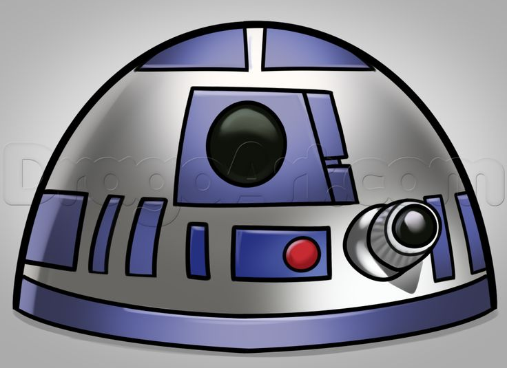 how to draw r2 d2 easy