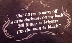 Johnny Cash, man in black quote
